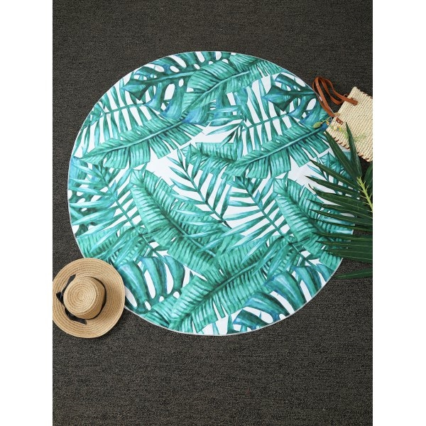 11.64$  Buy here - http://di992.justgood.pw/go.php?t=199477701 - Comfy Tropical Plant Print Round Throw Blanket