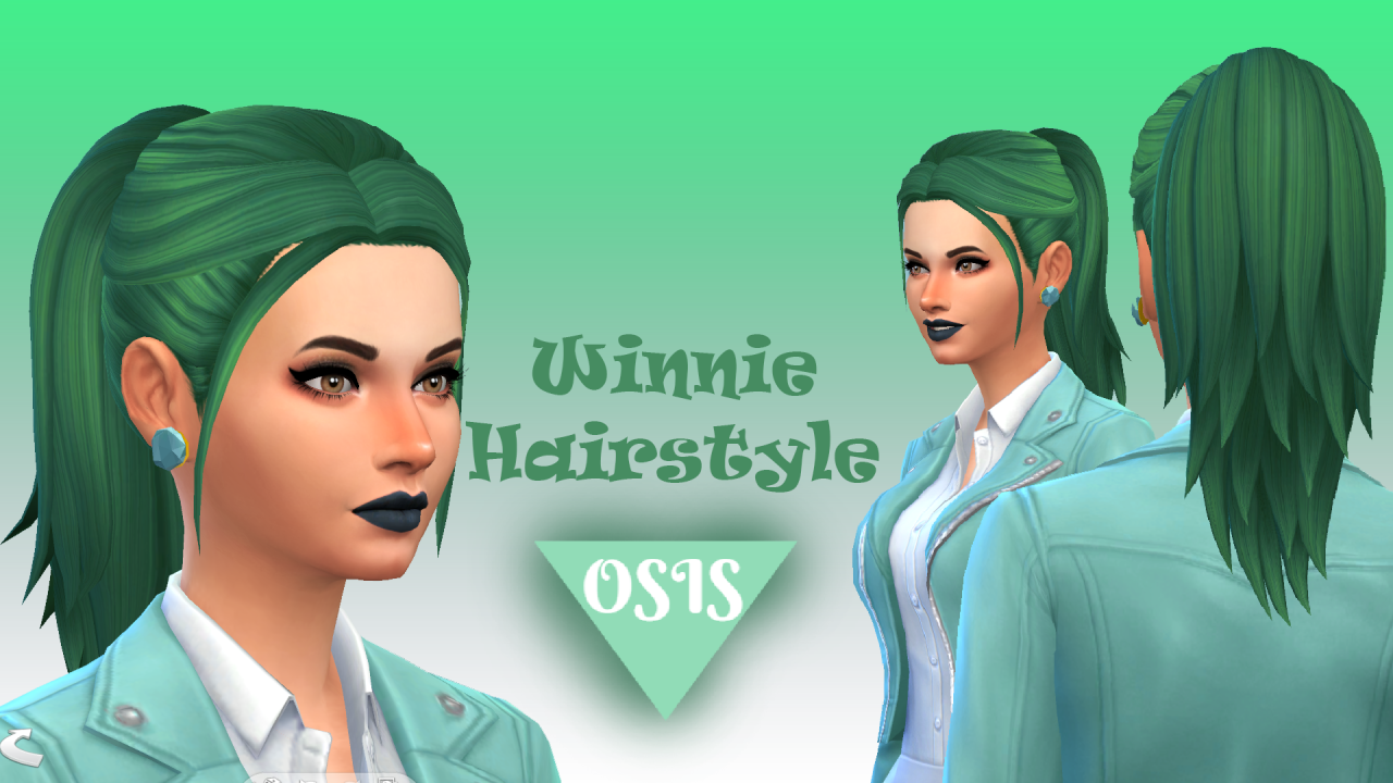 WINNIE HAIRSTYLE / MAXIS MATCH (18 EA COLORS)DOWNLOAD