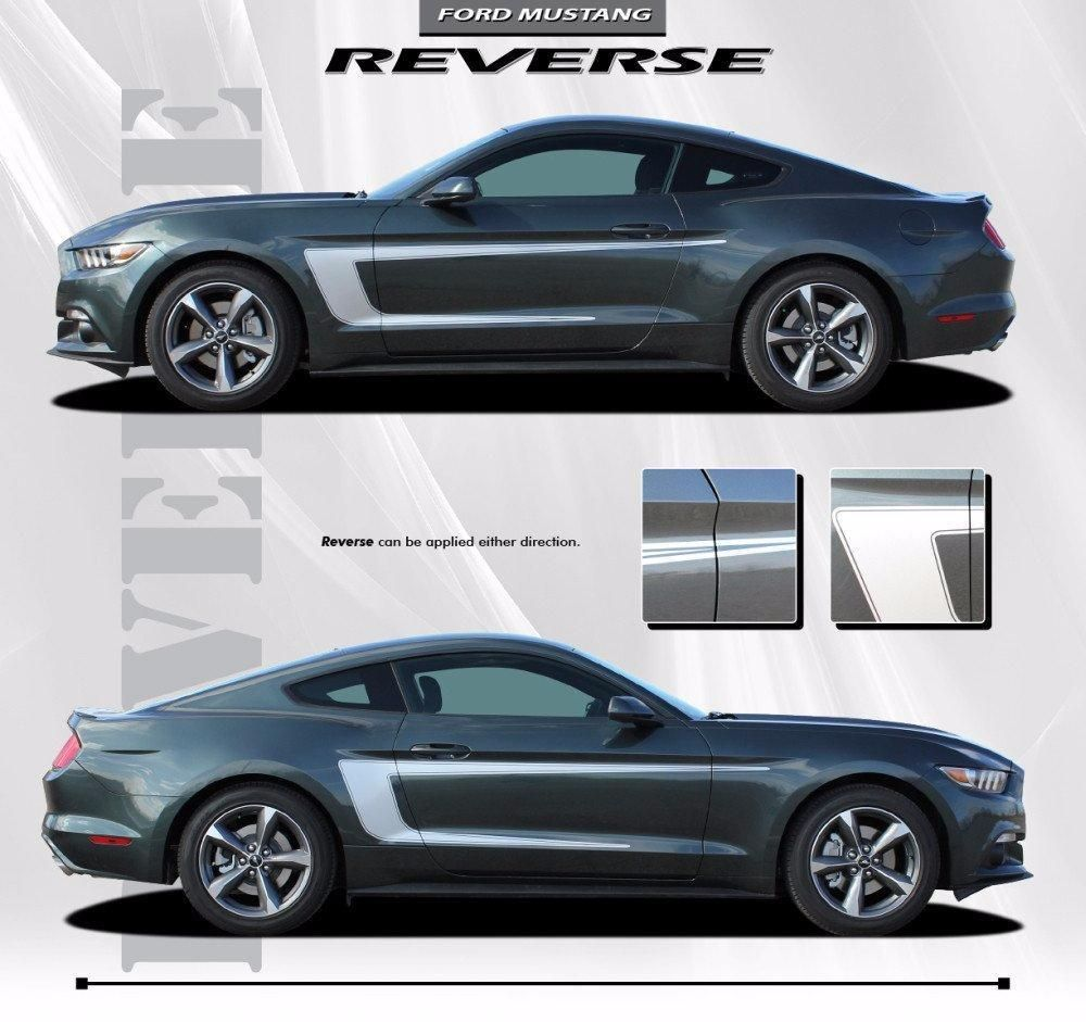 2015 2017 Ford Mustang Reverse C Stripe Boss 302 Style Side Stripes Vinyl Graphics 3m Decals Vinyl Graphics Ford Mustang Car Vinyl Graphics [ 941 x 1000 Pixel ]