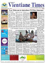 LAOS: newspaper, Vientiane Times (Laos' only English