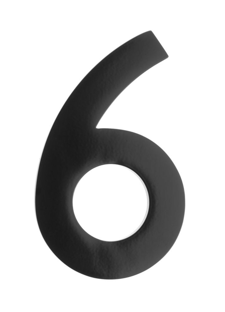Address Number 4 Inch Brass Black 6 Architectural Mailboxes House Numbers Floating House