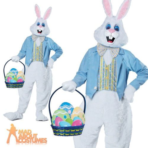 Deluxe Adult Unisex Over Head Rabbit Easter Bunny Mask Fancy Dress Animal