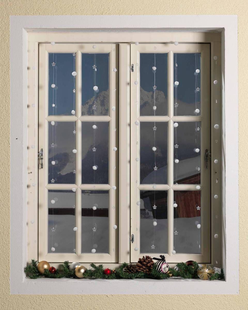 Fenster Deko Schneeflocken Weihnachtsdeko Winter