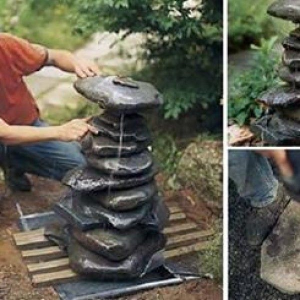 C mo construir una fuente zen fountain backyard and gardens for Jardines con fuentes