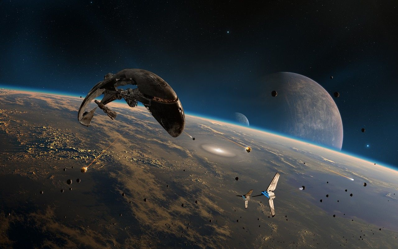 The Aftermath By Dkf Star Wars Wallpaper Space Artwork Star Wars Spaceships