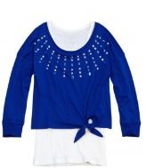 Crop tee over long sleeve side knot $34.93 reg. price from justice