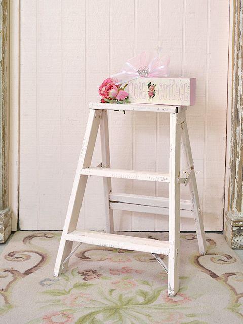 shabby rustic ladder