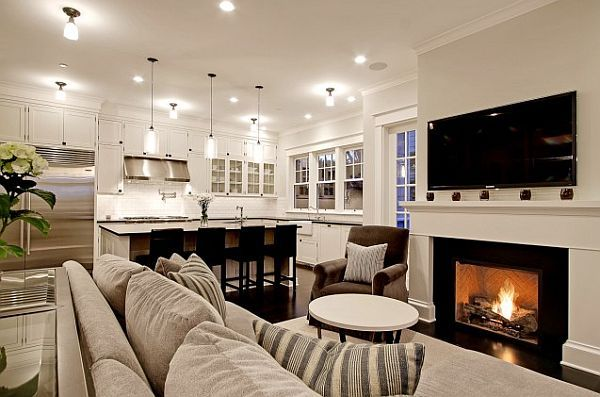 What Are The Advantages Of An Open Kitchen Living Room And Kitchen Design Traditional Living Room Traditional Design Living Room