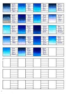 Copic Swatches Blue | Tips: Copic Coloring | Copic, Copic ...
