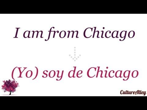 'I am from...' in Spanish (I am from Chicago) - YouTube ...