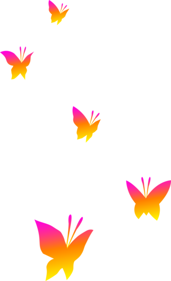 Pink Orange And Yellow Butterflies Free Clip Art Butterfly Clip Art Free Clip Art Clip Art