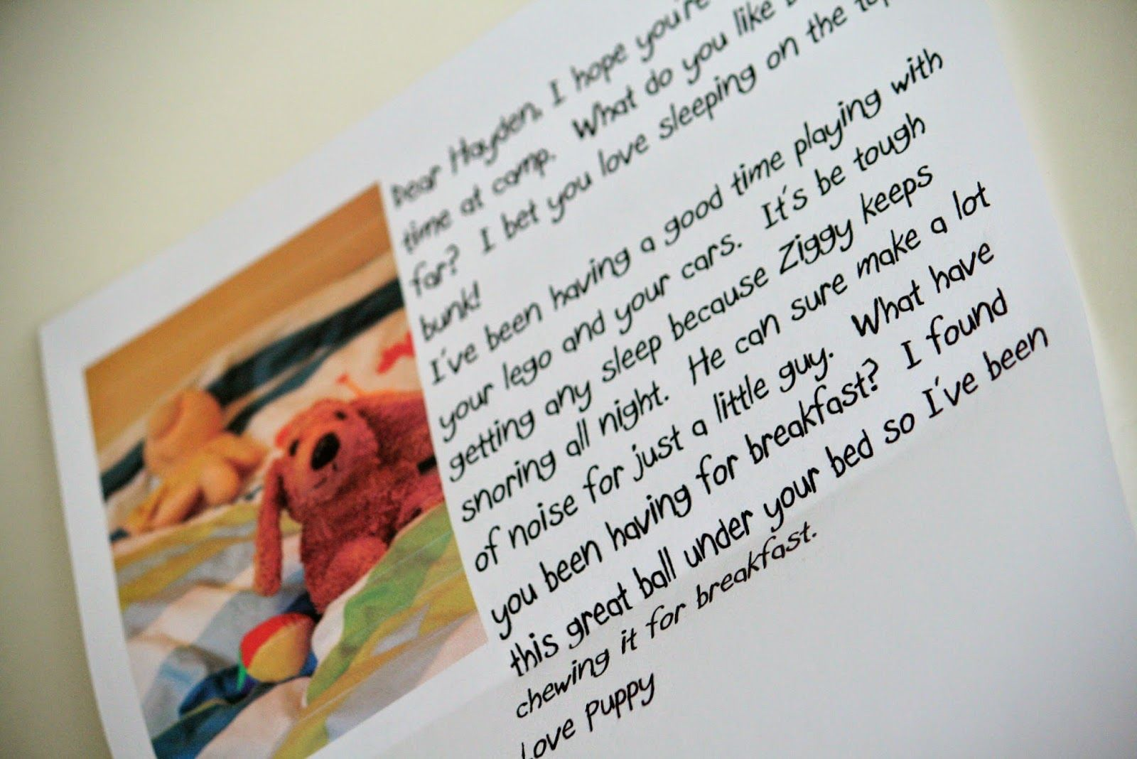 Cute sample camp letter Funny sample camp