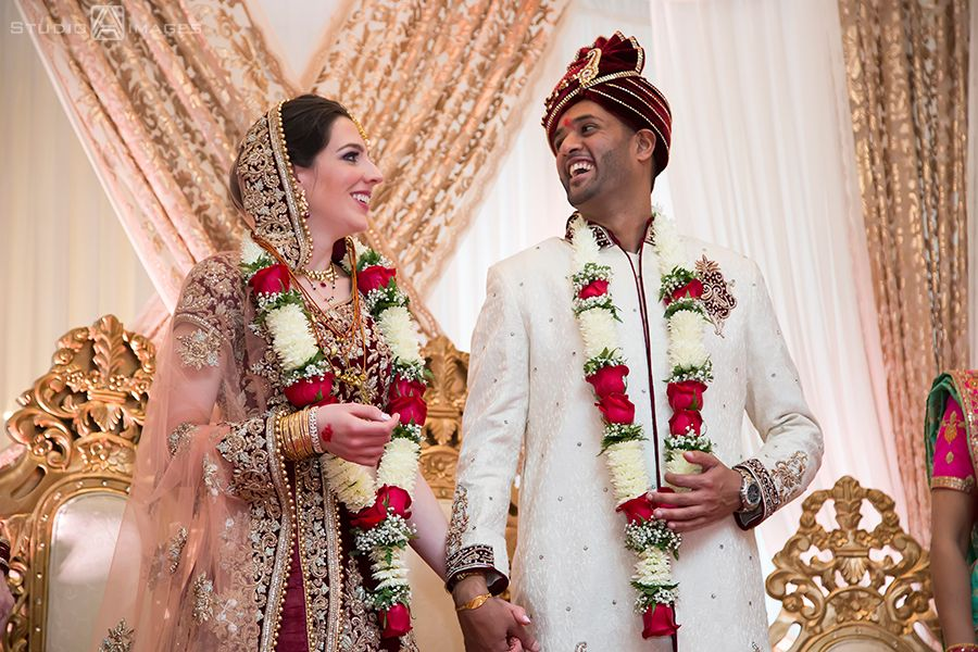 Bride And Groom During Traditional Hindu Wedding Ceremony At Hilton Pearl River Nyc Wedding Indian Wedding Photos Hindu Wedding Indian Wedding Photographer