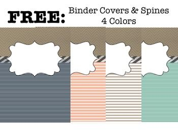 Free Binder Covers  Spines  Colors  House Craft Ideas