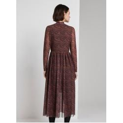 Photo of Tom Tailor Denim Damen Gemustertes Midi-Kleid, braun, Gr.xxl Tom TailorTom Tailor