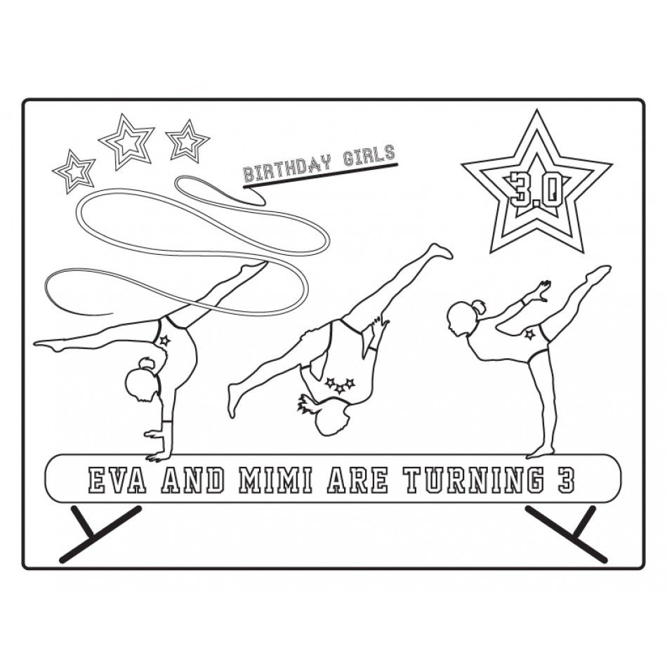 Coloring pictures gymnastics - Gymnastics Tumbling Party Teen Tween Birthday Party Printable Collection Isabella S 8th Gymnastic S Birthday Party Pinterest Gymnastics