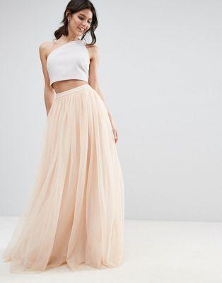 wholesale dealer b3c18 78bb3 Gonna lunga da cerimonia in tulle | Gonne | Nude skirt ...