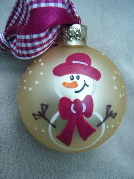 Hand Painted Snowman $11.00