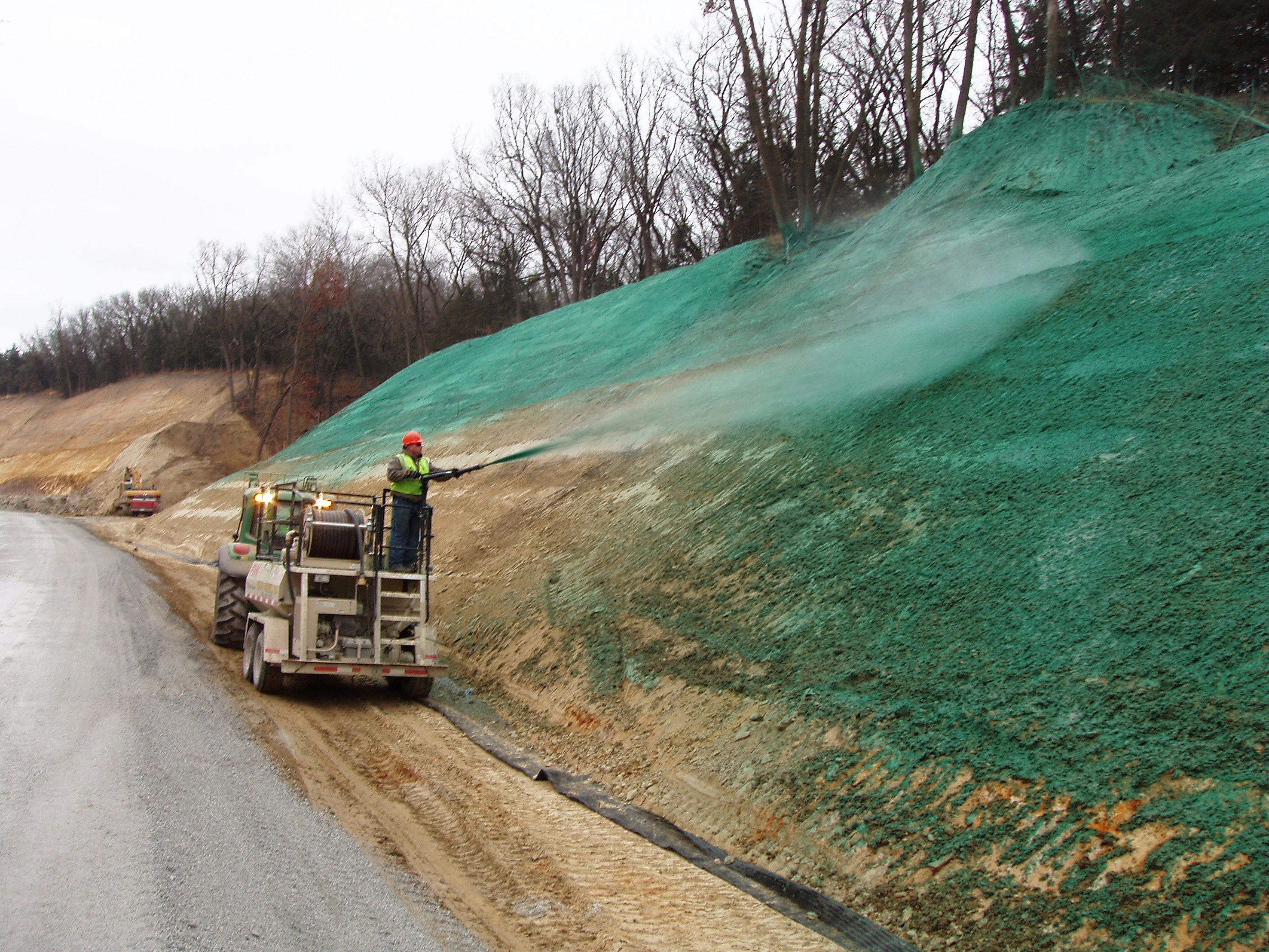 0822 600 700 80 Supplier Mesin Hydroseeding Terbaik Erosion Landscape Design Erosion Control