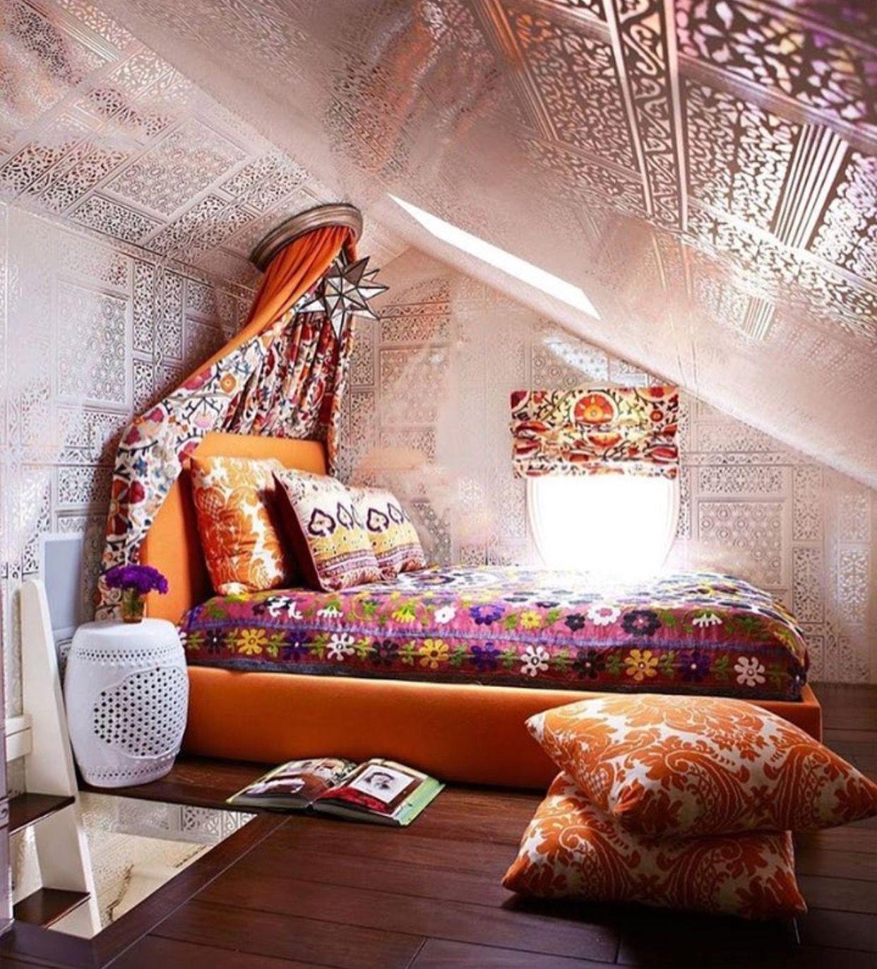 Boho loft bedroom  Pin by Fanny Castañón on Beds u Bedrooms  Pinterest  Bedrooms