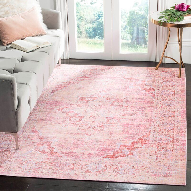 Bungalow Rose Chauncey Cotton Fuchsia Area Rug Reviews Wayfair Pink Rug Living Room Cool Rugs Rugs In Living Room