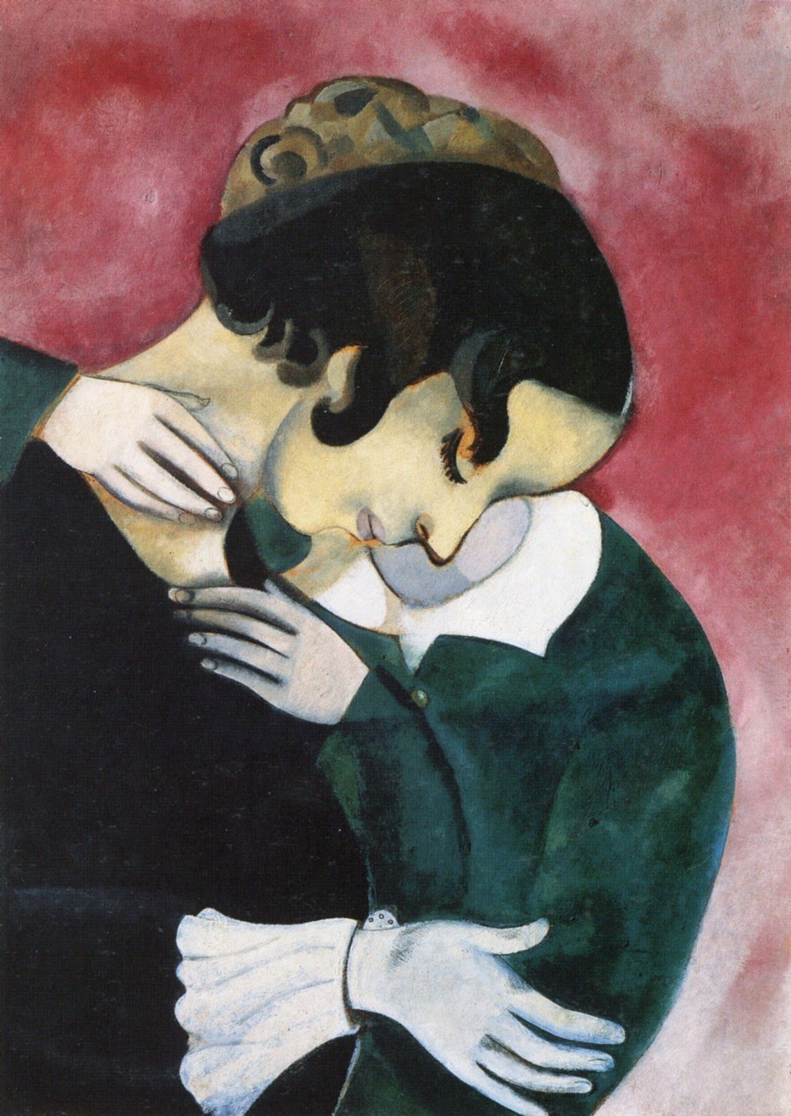 Lovers in Pink, Marc Chagall 1916  Private Collectio