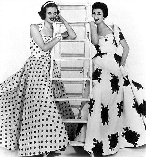 Susan Abraham (left) wearing a spotted gown by Brilkie and June Clarke in a…