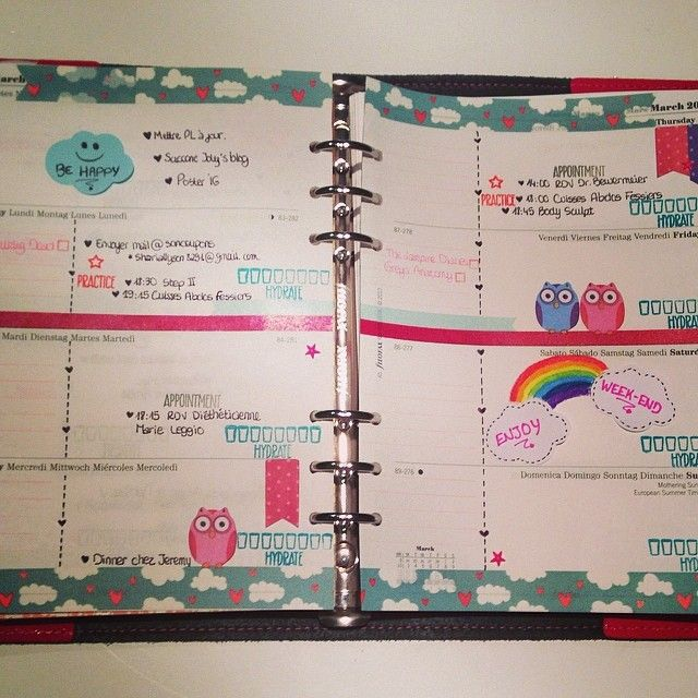 ShareIG This week ) #filofax #filofaxlove #planner #planneraddict - how to create a agenda