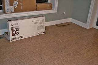 Marcas Areia Cork From Us Floors Sw Oyster Bay Walls Sw Pure White Trim Cork Flooring Flooring Rugs On Carpet