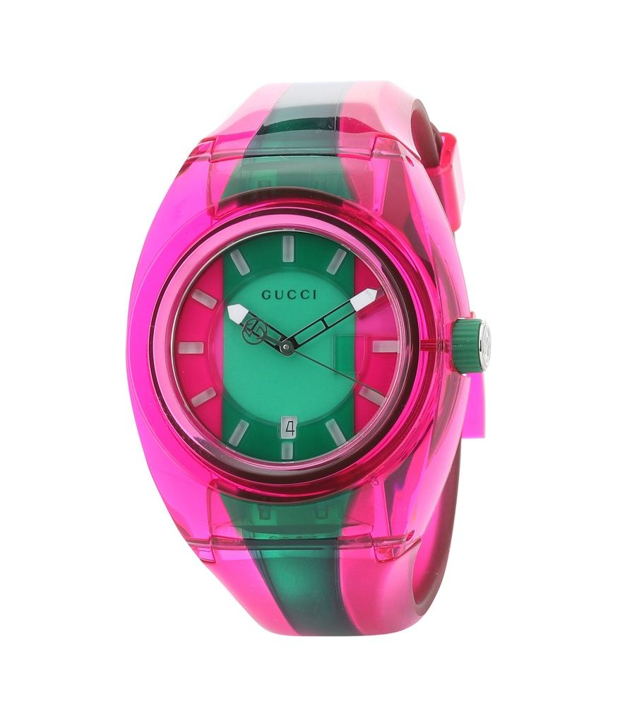 Gucci sync xxl watch pink watch pink and green gucci watch