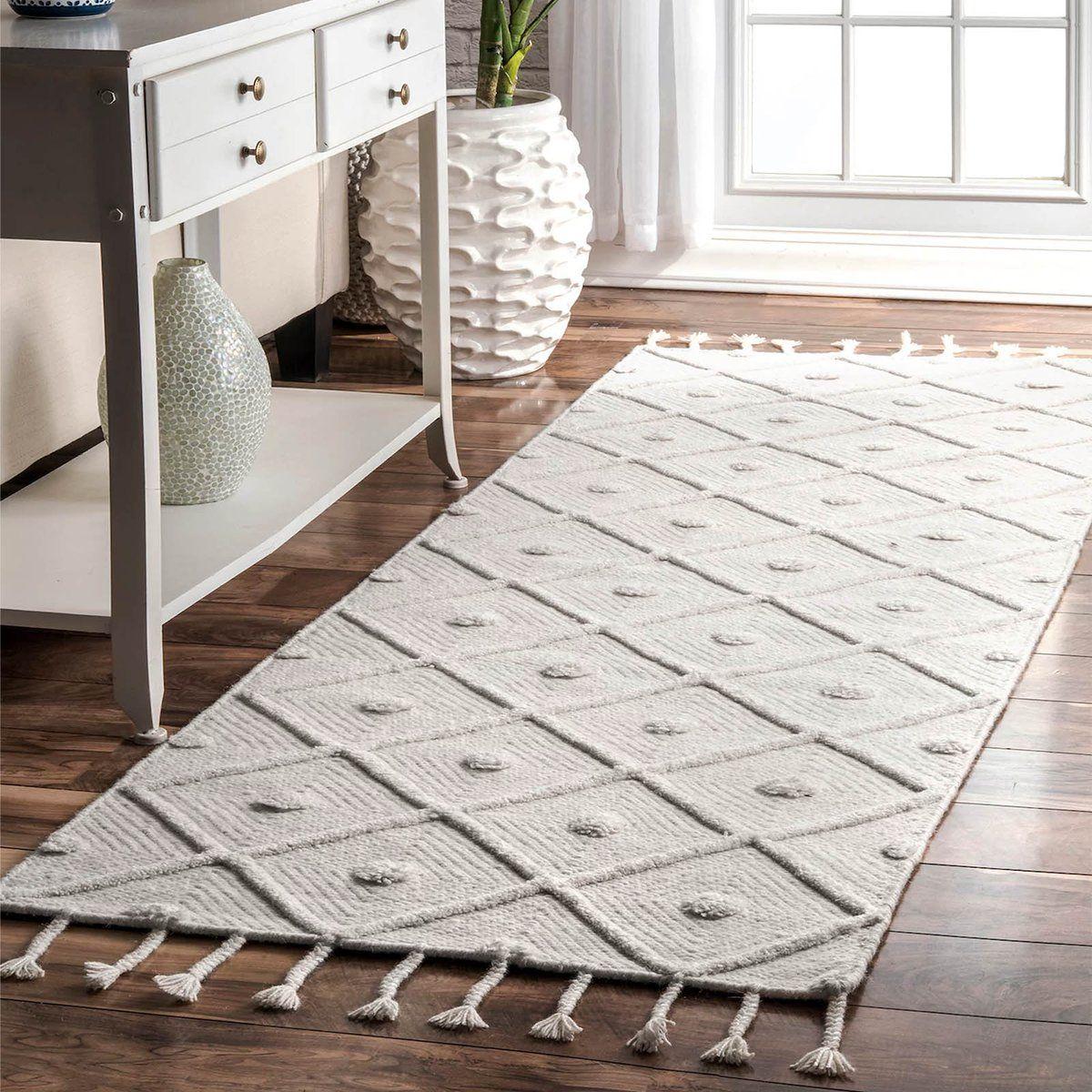 90x300 Cm Amak Handmade Wool Rug Amaka001 Long Handmade Wool