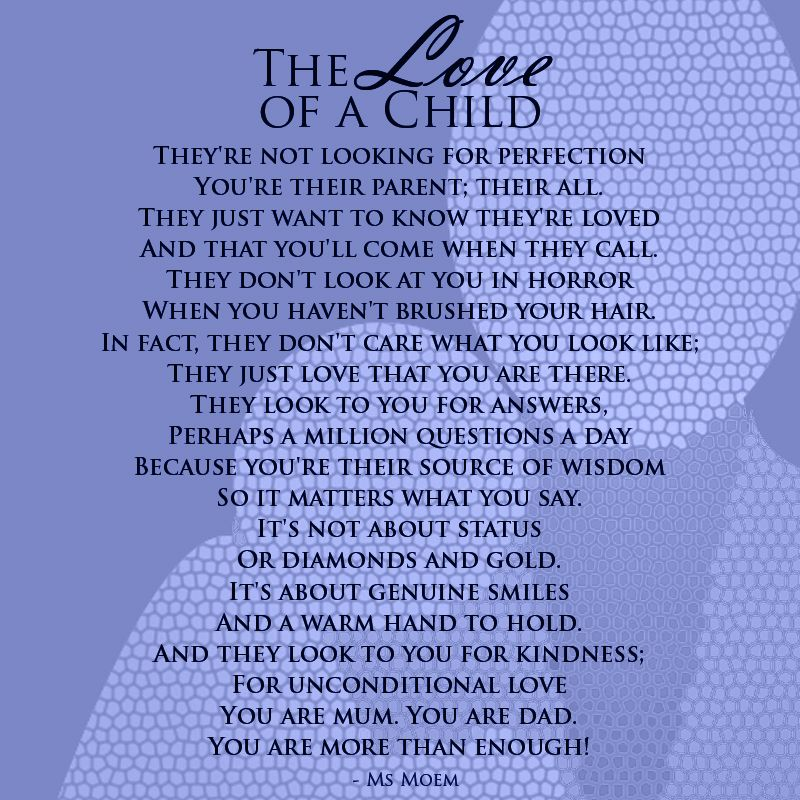The Love Of A Child | Rhyming poems, Short rhyming poems ...