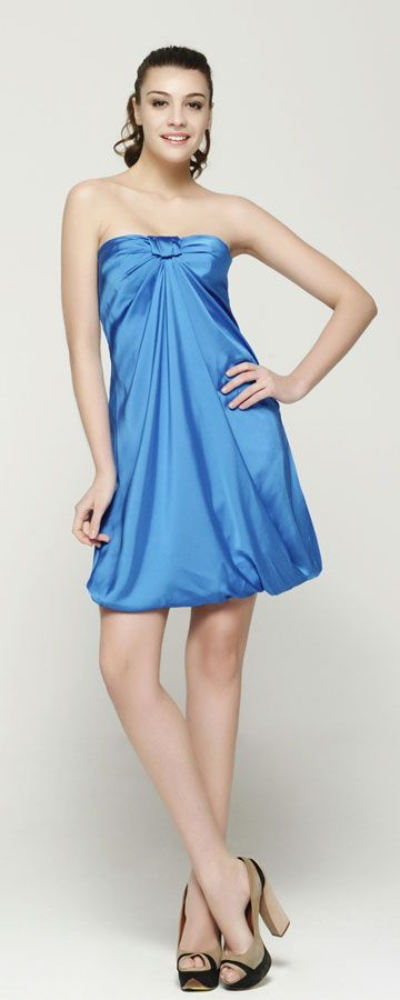 Strapless Aqua Blue Cocktail Dresses   Blue cocktail dress, Blue ...