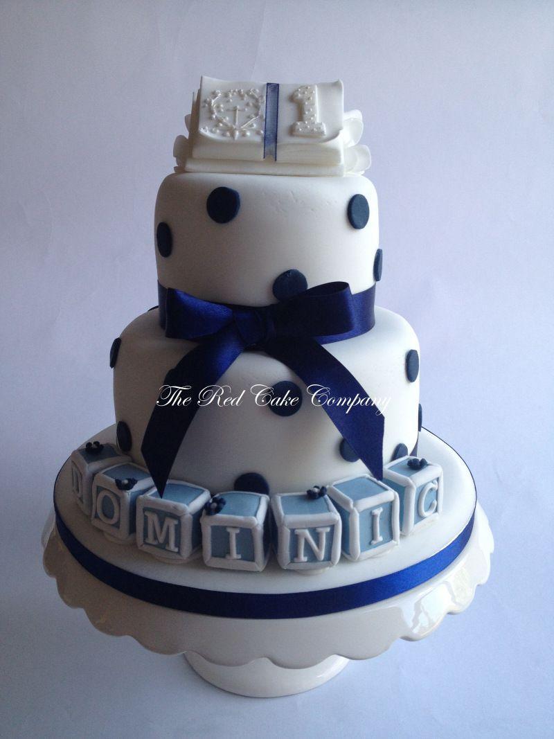 baby boy 1st birthday christening cake redcakecompany cake