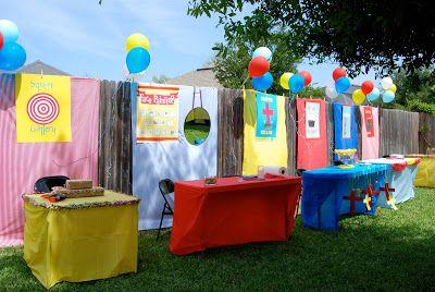 Backyard Carnival | A Small Snippet | Carnival birthday ...