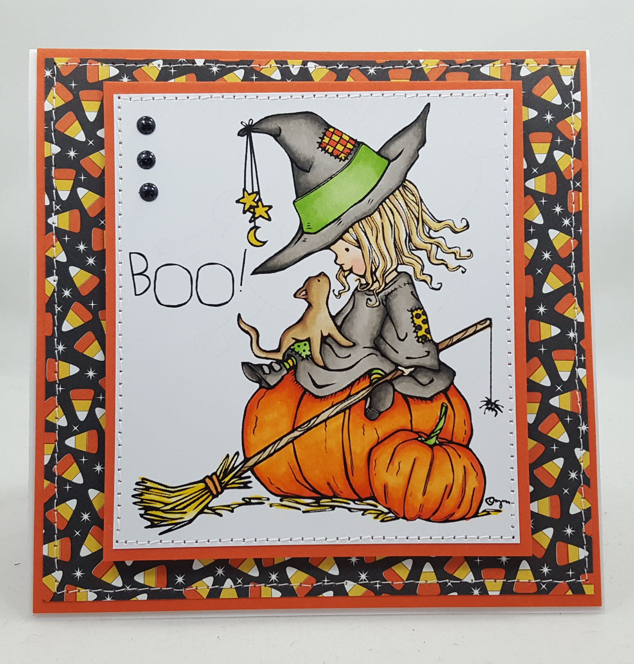 Halloween ghostly witch handmade card greetings gift fall halloween ghostly witch handmade card greetings gift fall occasions greeting card kristyandbryce Images
