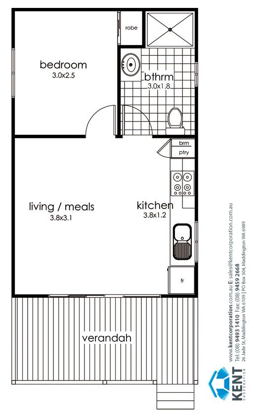 Grevillea kent corporation leaders in transportable for Floor plans granny flats