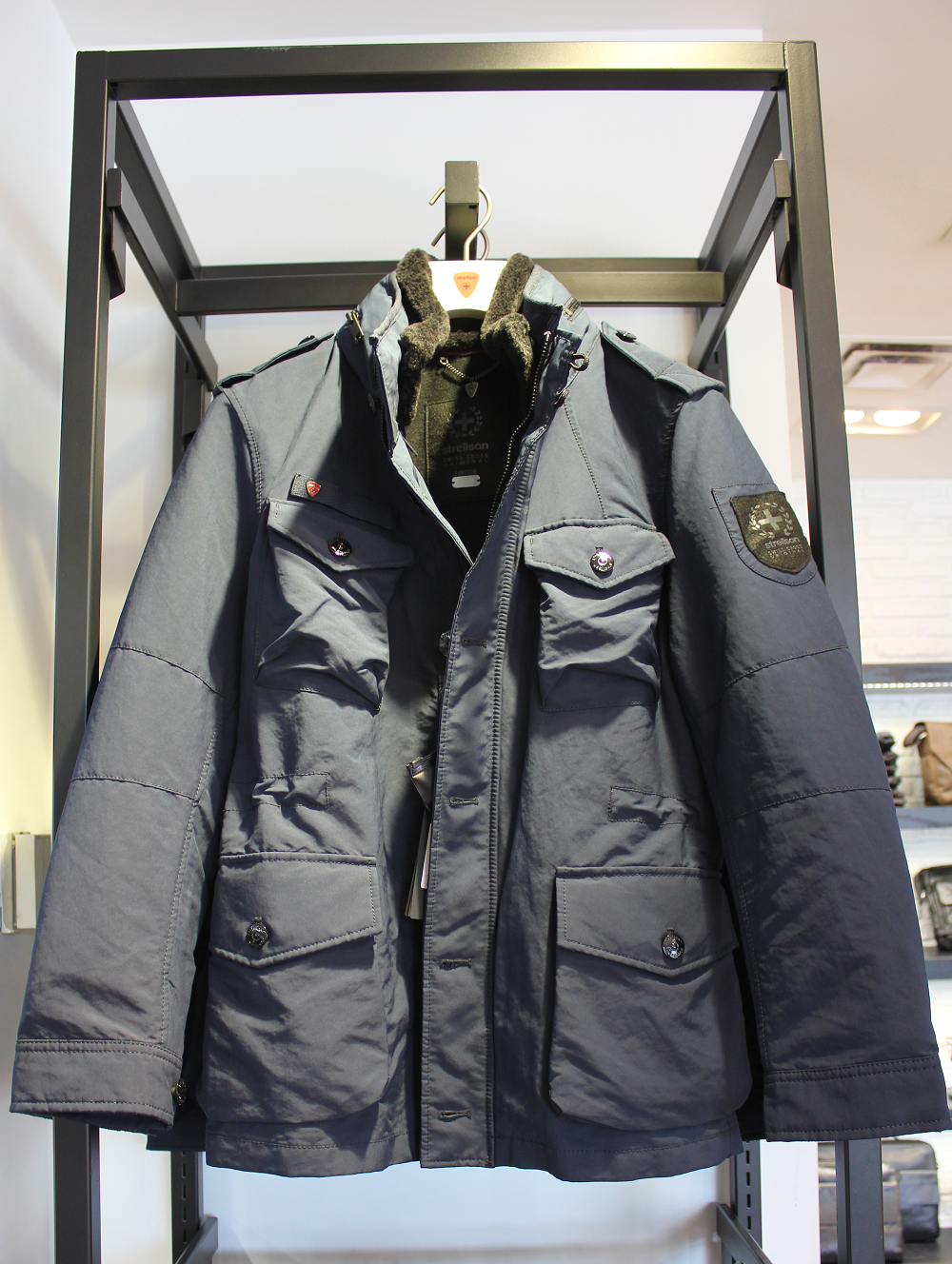 How about our Strellson Swiss Cross Squad jacket that ...