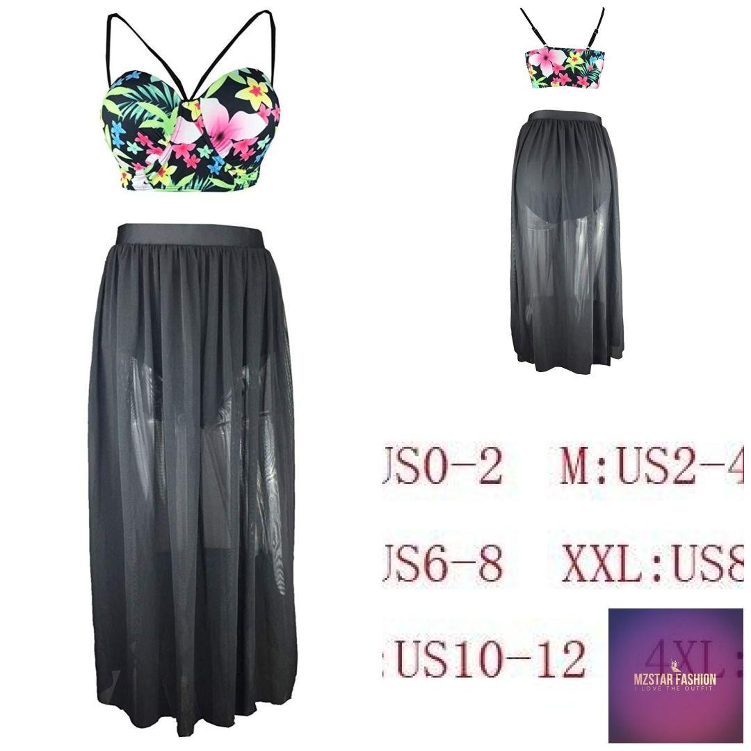 621ae6e0cd Caracilia Women Floral Bathing Suit Push up Skirt Swimsuit Plus Size Bikini   america  fashion