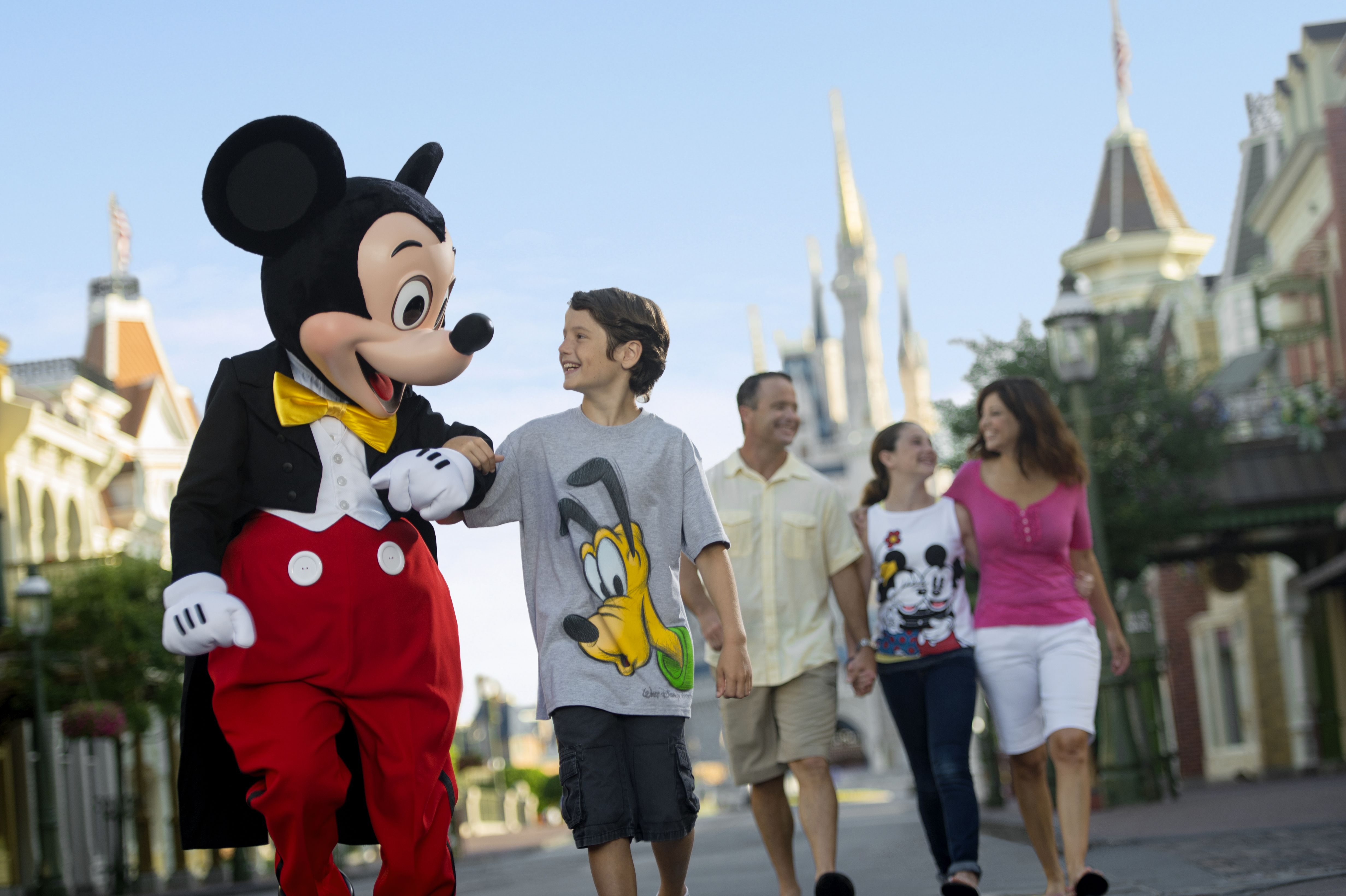 Mickey Mouse families at Disney