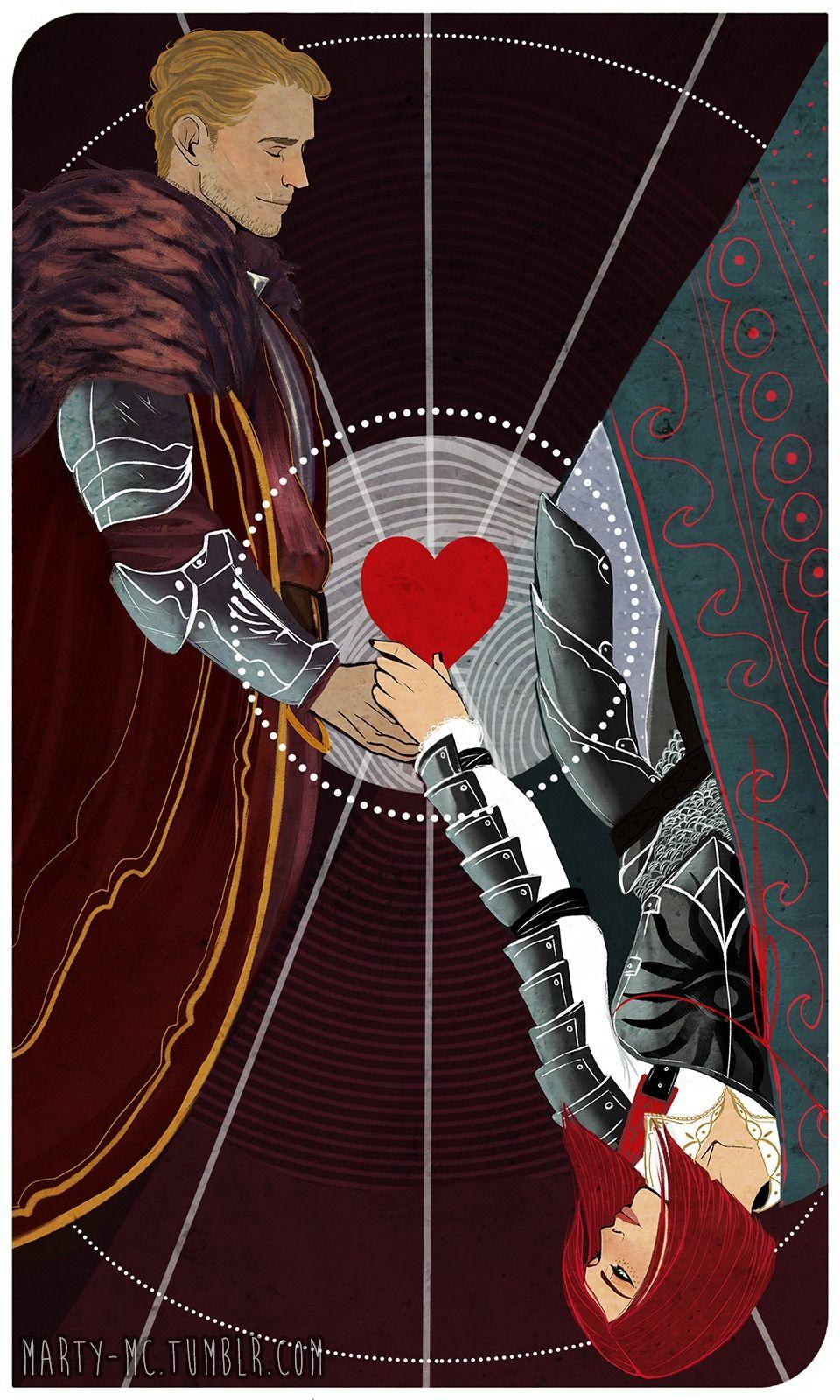 Cullen x Inquisitor - fan made romance tarot card