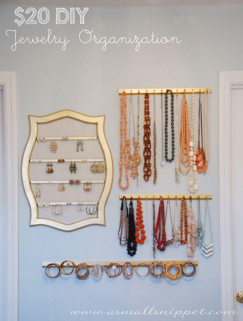 20 DIY Jewelry Organization Pinteres