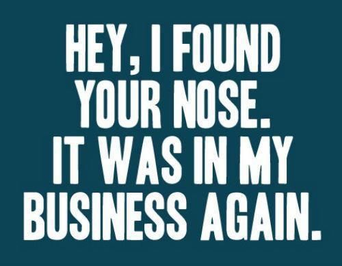 Hey I Found Your Nose It Was In My Business Again Funny Quotes Words Quotes