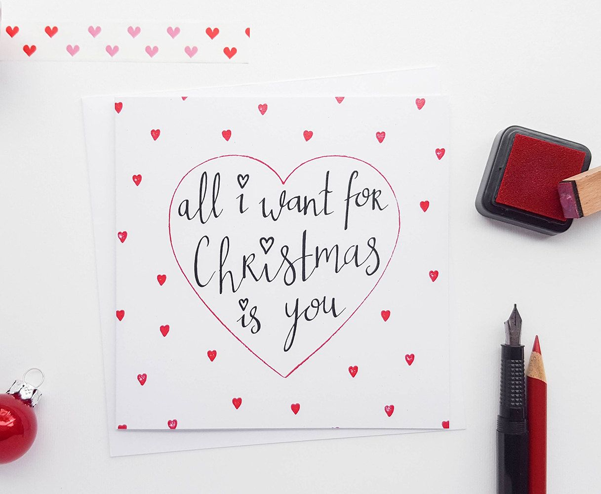 Hand drawn all i want for christmas card girlfriend christmas hand drawn all i want for christmas card girlfriend by kiocards kristyandbryce Image collections
