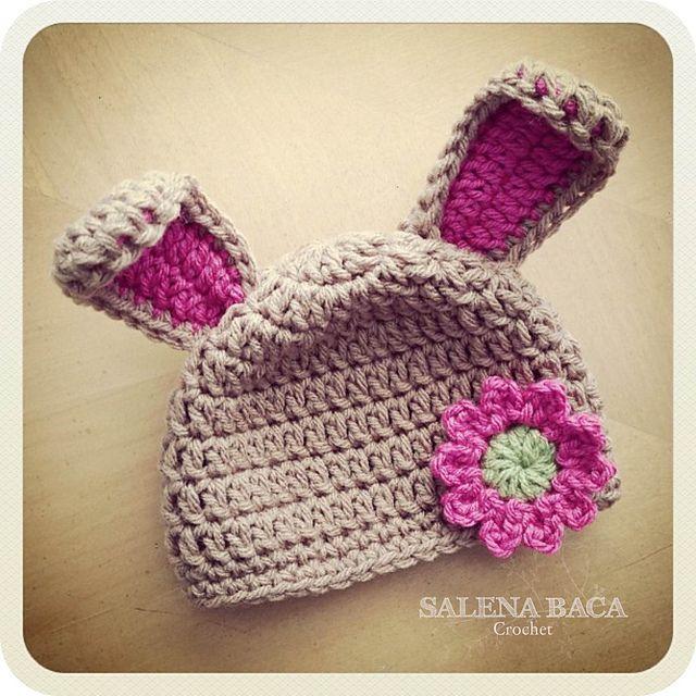 Bunny Rabbit Ear Hat pattern by Salena Baca | CROCHET - Gorros ...
