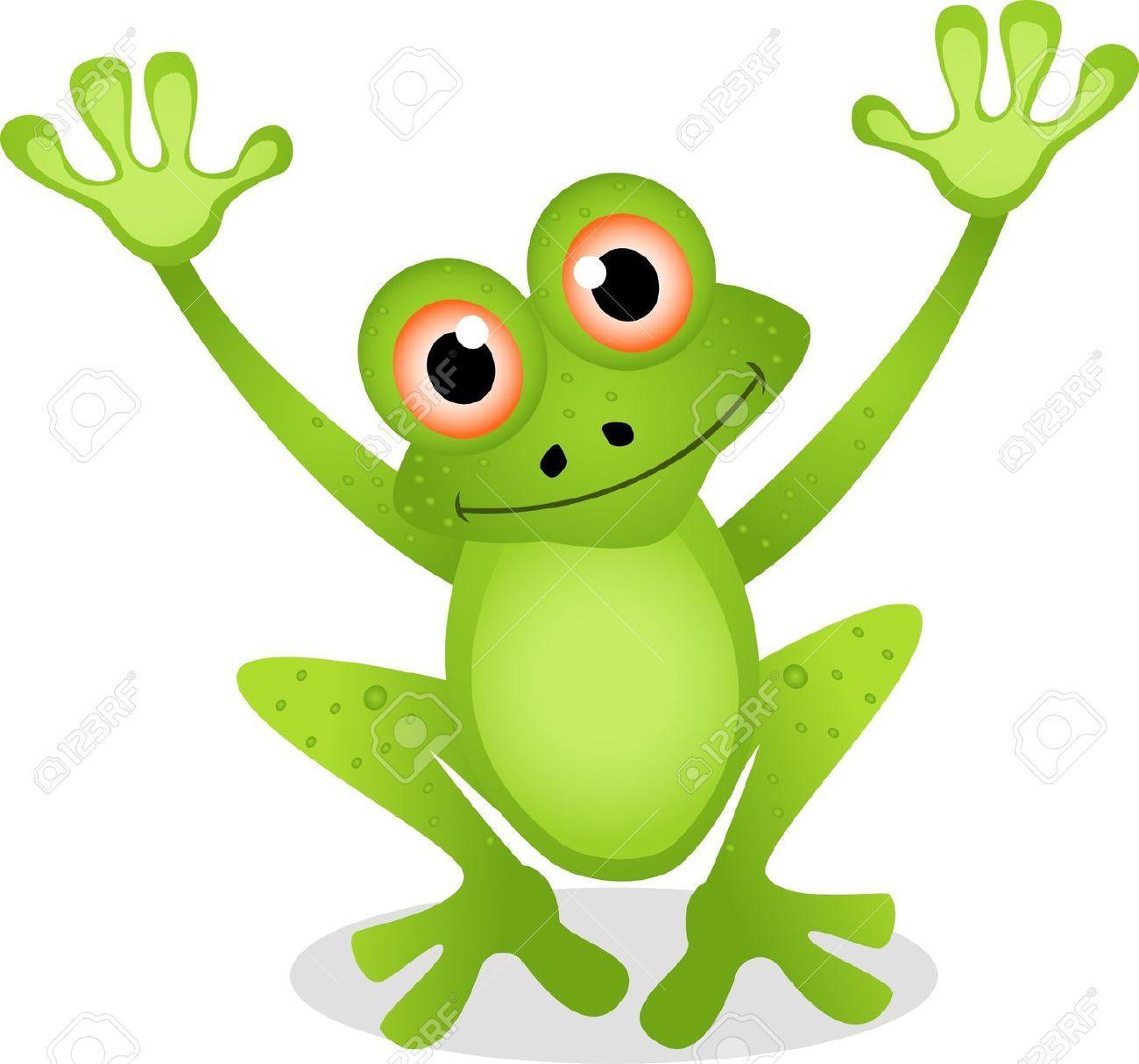Dessin anim grenouille dr le clip art libres de droits - 123rf image gratuite ...
