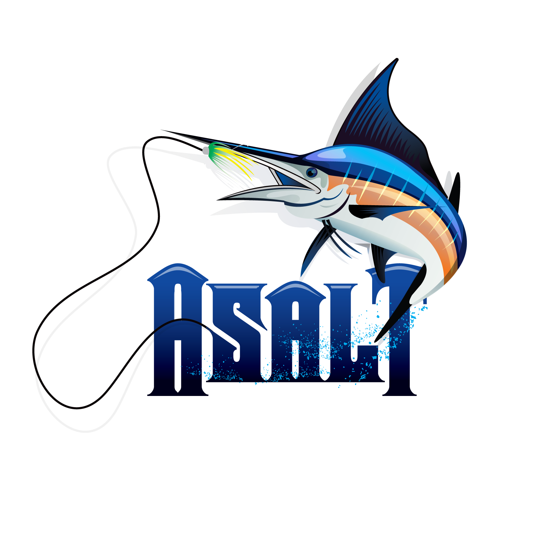 logo design for a marlin fishing charter comapnay our