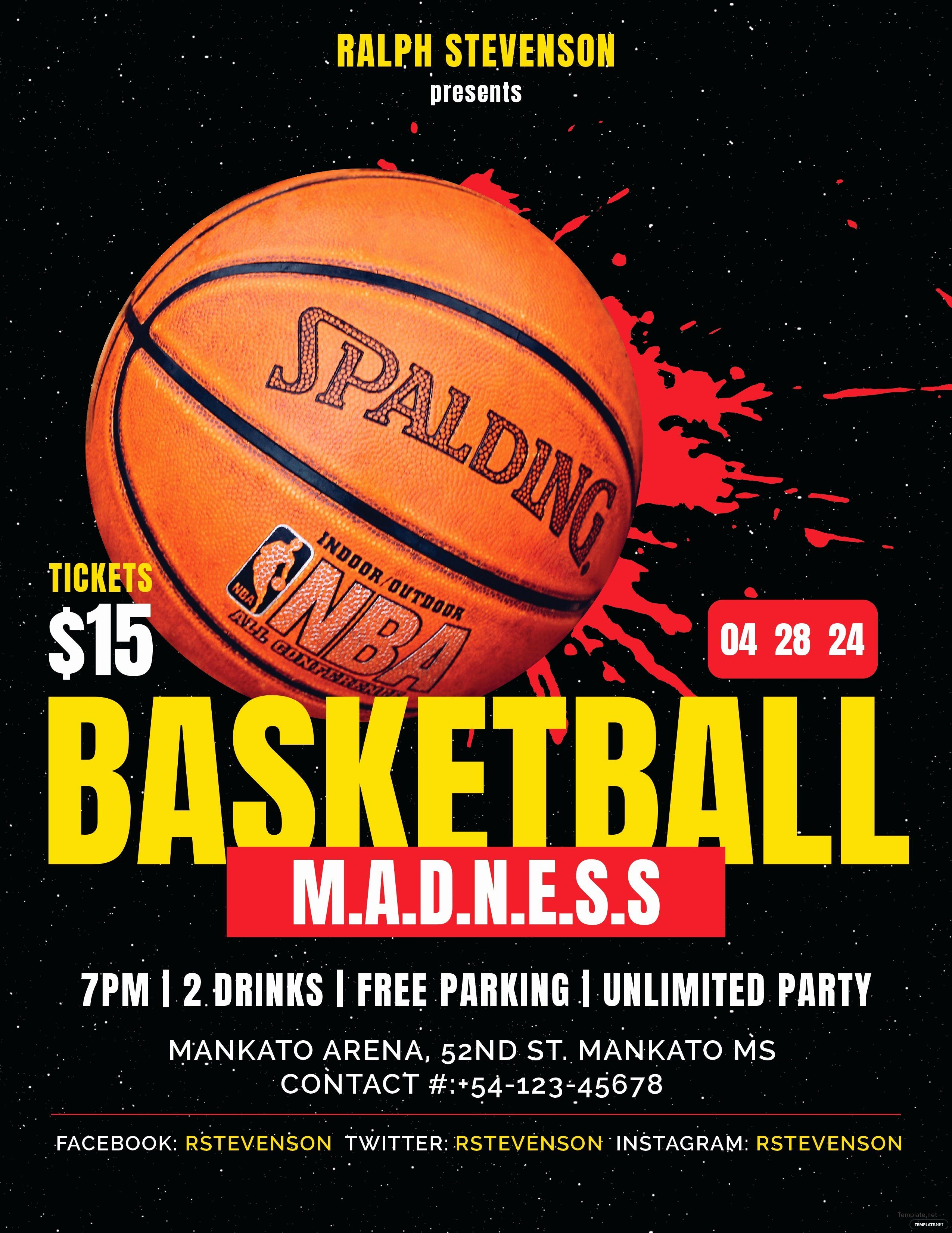 Basketball Tournament Flyer Template Best Of Free Basketball Madness Flyer Template In Adobe Shop Flyer Template Free Basketball Sports Flyer