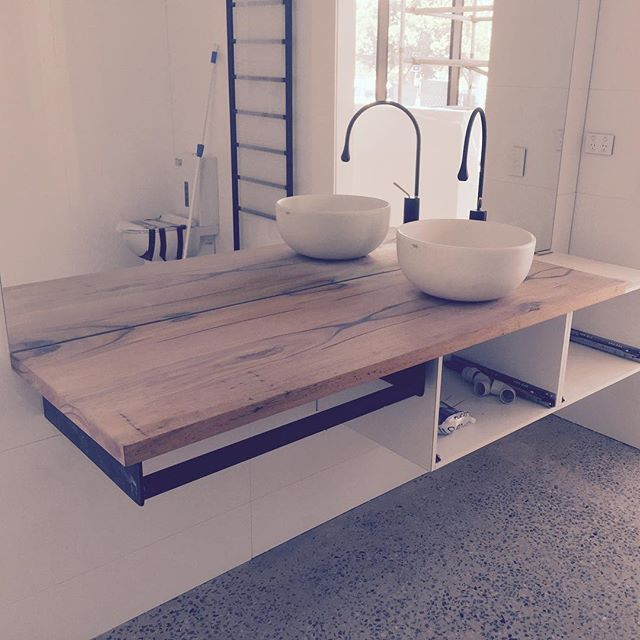 Solid Timber Vanities Bringing Warmth To Your Bathroom Timber Vanity Bathroom Top Laundry In Bathroom