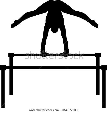 Uneven bars with gymnast | Gymnastics images, Silhouette ...